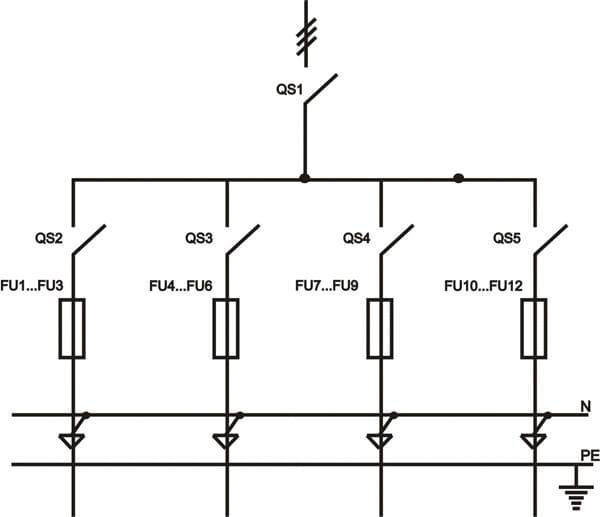 принципиальная однолинейная схема ИВРУ-5